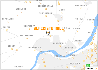 map of Blackiston Mill