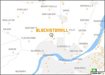 map of Blackiston Mill