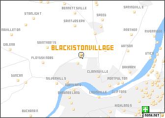map of Blackiston Village