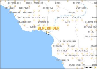 Black River Jamaica map  nonanet