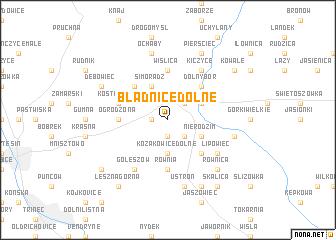 map of Bładnice Dolne