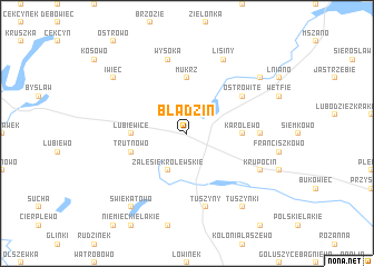 map of Błądzin