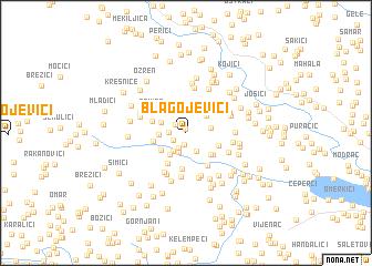 map of Blagojevići