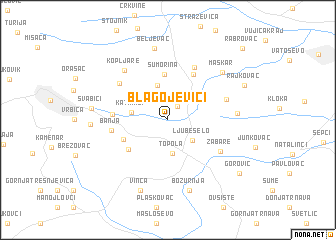 map of Blagojevići