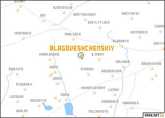 map of Blagoveshchenskiy