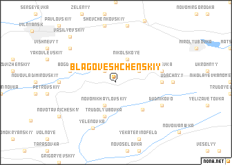 map of Blagoveshchenskiy