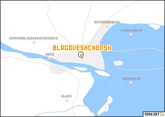map of Blagoveshchensk