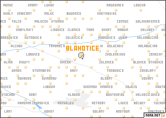 map of Blahotice