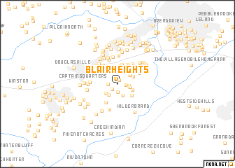 map of Blair Heights