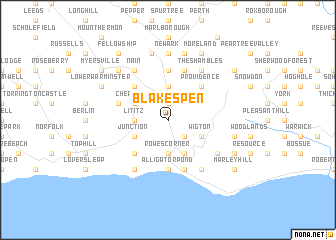 map of Blakes Pen