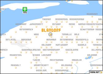 map of Blandorf