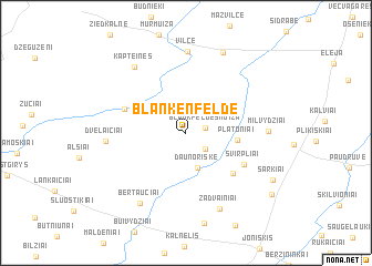 map of Blankenfelde