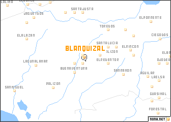 map of Blanquizal