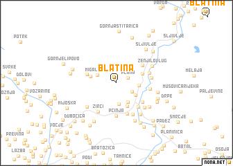 map of Blatina