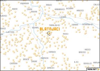 map of Blatnjači