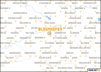 map of Blaumhöfen