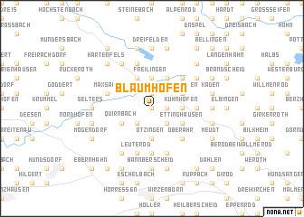 map of Blaumhöfen