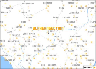 map of Blawehn Section