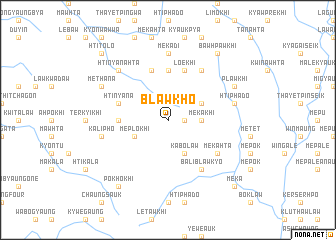 map of Blawkho