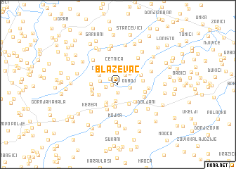 map of Blaževac