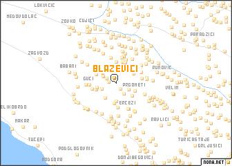 map of Blaževići