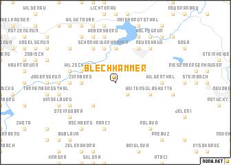 map of Blechhammer