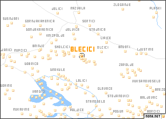 map of Blečići