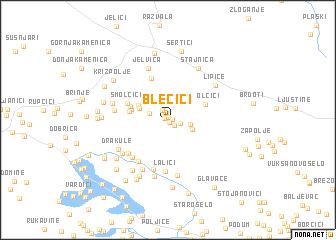 map of Blečići