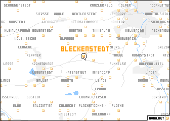 map of Bleckenstedt