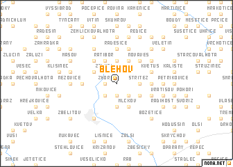 map of Blehov