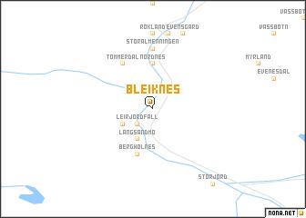 map of Bleiknes