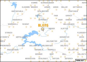 map of Blens