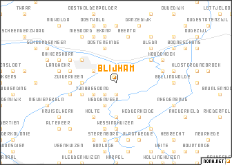 map of Blijham