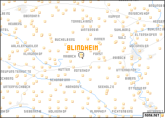 map of Blindheim