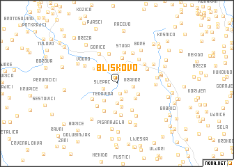 map of Bliškovo