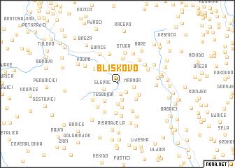 map of Bliškovo