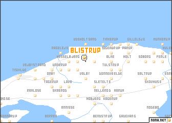 map of Blistrup