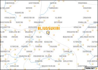 map of Bliūdsukiai
