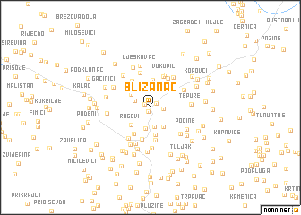 map of Blizanac