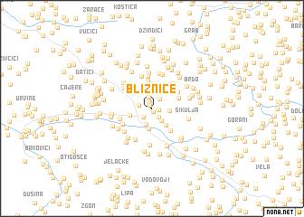 map of Bliznice