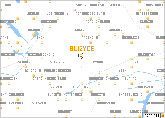 map of Bliżyce