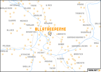map of Bllata e Epërme
