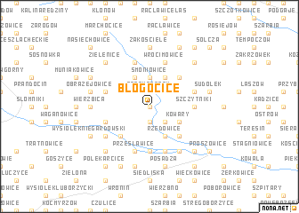 map of Błogocice