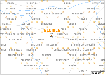 map of Błonice