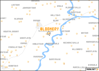 map of Bloomery