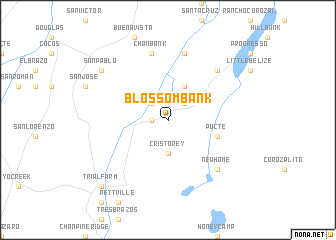 map of Blossom Bank