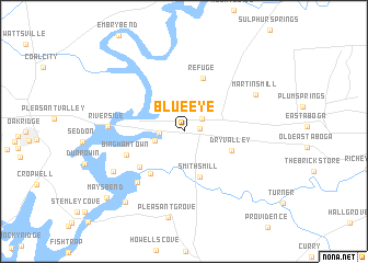 map of Blue Eye