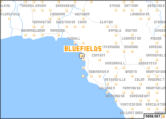 Bluefields Jamaica map nonanet