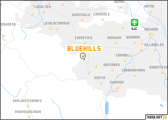 map of Blue Hills