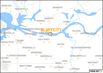 map of Bluff City